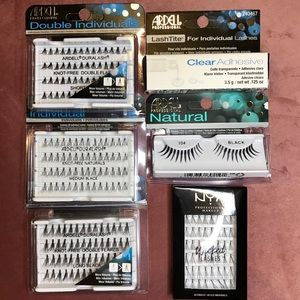 💄LASHES and ADHESIVE bundle. 6 items.